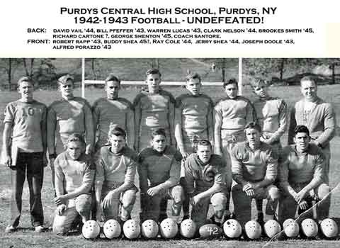 Purdys Central High Football 1942-43 Champions