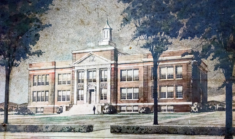 Purdys Central High Architect Drawing